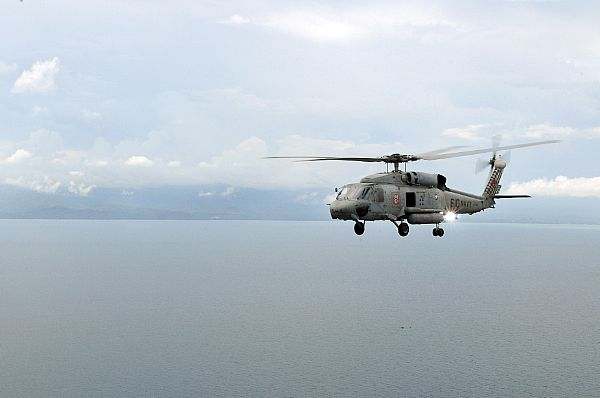 A helicopter assigned to the