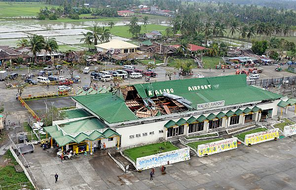 Kalibo Airport on the northern tip of Panay Island was hit hard by Typhoon Fengshen and is receiving assistance from the Ronald Reagan Carrier Strike Group