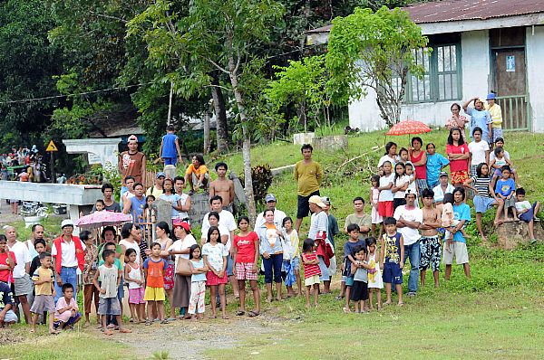 Local villagers were happy to see the Sailors assigned to the