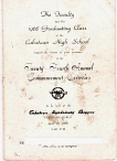 CNCHS Class 1968 Commencement Program