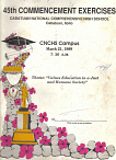 CNCHS Class 1989 Commencement Program